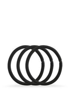 Black Snagless Thick Elastics - Pk10