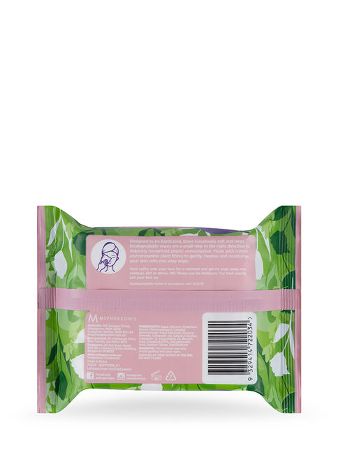 Eco Sensitive Biodegradable Facial Wipes 25 pack