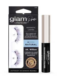 Glam Pro Magnetising Eyeliner & 64. Willow Magnetic Lash Set