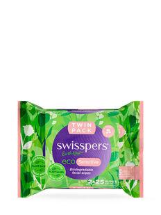 Eco Sensitive Biodegradable Facial Wipes 2x25 Pack