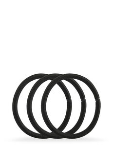 Black Snagless Thick Elastics - Pk10