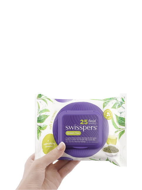 Green Tea Facial Wipes 2x25 pack