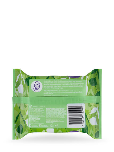 Eco Aloe Vera Biodegradable Facial Wipes 25 pack