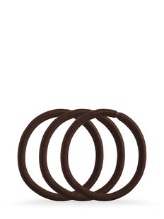 Brown Snagless Thick Elastics - Pk10